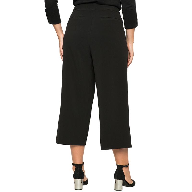 579c2e0b36a49 Kissmilk Plus Size Women Solid High Waist Wide Legs Three Quarter Pants  Double Button Casual Loose Female Cropped Trousers-in Pants   Capris from  Women s ...