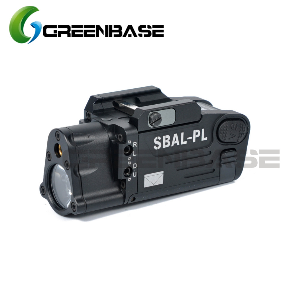 Greenbase CNC Aluminum SBAL PL Hunting Flashlight Red Laser and LED WeaponLight Constant Momentary Strobe Flashlight