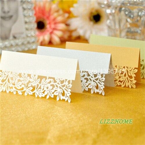 12pcs Flower Vine Table Card For Wedding Table Decoration