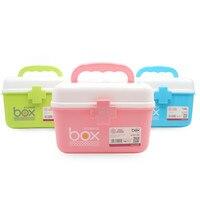 NEW Plastic 2 Layers Health Pill Medicine Drug Bottle First Aid Kit Case Storage Box Emergency