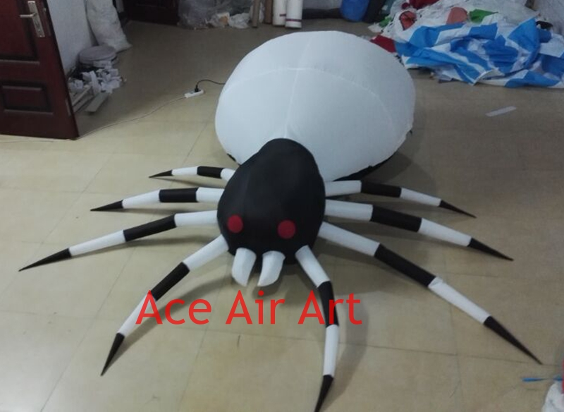 10 ft long giant halloween decorations spiders with colorful lights for party in ukchina - Giant Halloween Spider