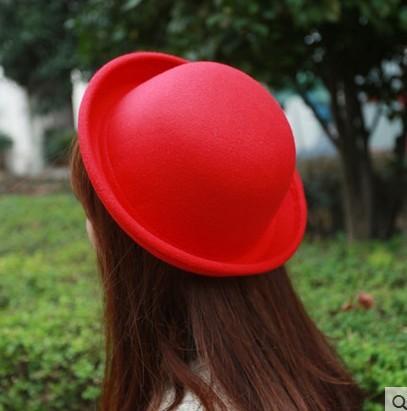 Korean woolen hat lady Retro Fun women hats wholesale-in Fedoras ... a182dfc9050