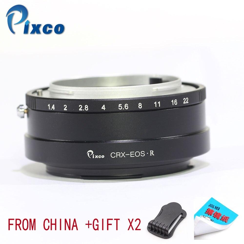 Pixco pour CRX-pour EOS R adaptateur de monture d'objectif combinaison pour Canon pour EOS R + cadeaux