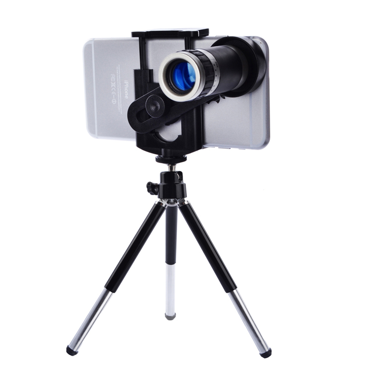 Mobile Phone <font><b>Lens</b></font> Universal 8X Zoom Telescope Camera Telephoto <font><b>Lenses</b></font> for iPhone 4 4S 5 5C 5S 6 Plus Samsung Galaxy S3 <font><b>S5</b></font> Note 4 image