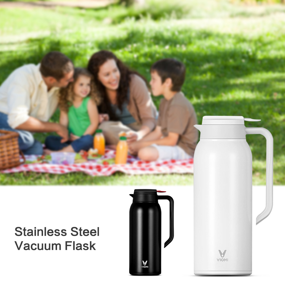 Mijia VIOMI Stainless Steel Vacuum Flask Portable 1.5 L Kettle Portable 24 Hours Thermos Leakproof for Outdoor Camping Travel hot sale portable outdoor camping travel stainless steel hip flask