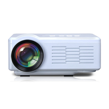White color HD Mini Projector pico proyector multimedia 1000Lumen lcd led micro beamer led lamp 50,000hrs with TV Tuner HDMI USB