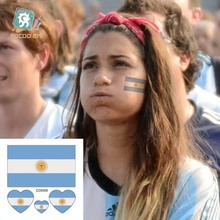 Body Art Waterproof Temporary Tattoos For Women And Men Argentina Flag Design Flash Tattoo Sticker CC6006