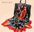 2016 Mujeres de La Manera bufandas del Poliester Hijab Impresión Cuadrada Lenços Pañuelos De Gasa 90x90 cc hmong Tribal bufanda de las señoras pañuelos