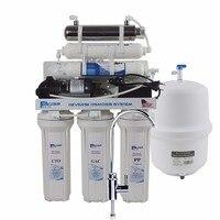 Undersink обратного осмоса питьевой воды фильтр Системы с УФ sterlizer и Щелочной фильтр/после фильтра рН 8.0 9.50