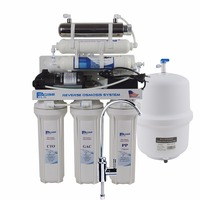 Undersink Reverse Osmosis Drinking Water Filter System With UV Sterlizer And Alkaline Filter After Filter Ph