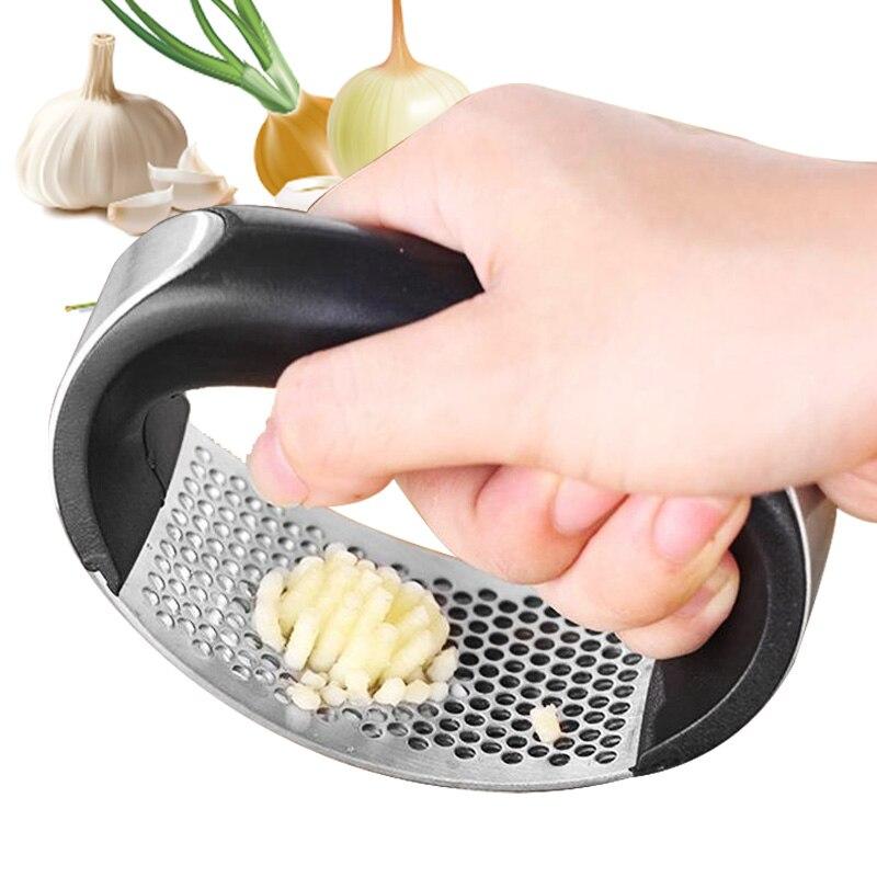 La prensa de ajo sarımsak ezici alho de acero inoxidable knoblauchpresse espremedor de alho knoflookpers picador ajo cocina accessori