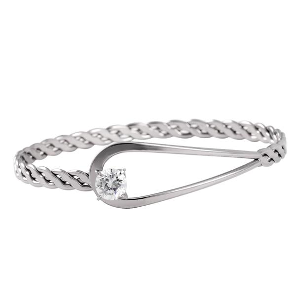 FR-1 High Quality Stainless Steel Bracelet Fashion Style Men/Women Bangle Luxury Cuff Bracelet Jewelry Cable Twisted Bracelet