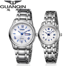 1 Pair GUANQIN Lovers Mechanical Watches Couple Automatic