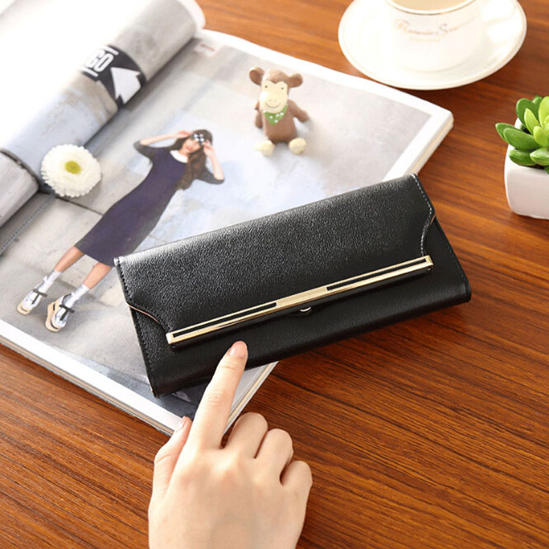 Fashion Wallet Women Long Zipper Hasp PU Leather Womens Wallets And Purses Clutch Coin Card Holder Purse Portefeuille Femme auau soft leather women wallets bowknot clutch bag long pu card purse wallet for womens rose red