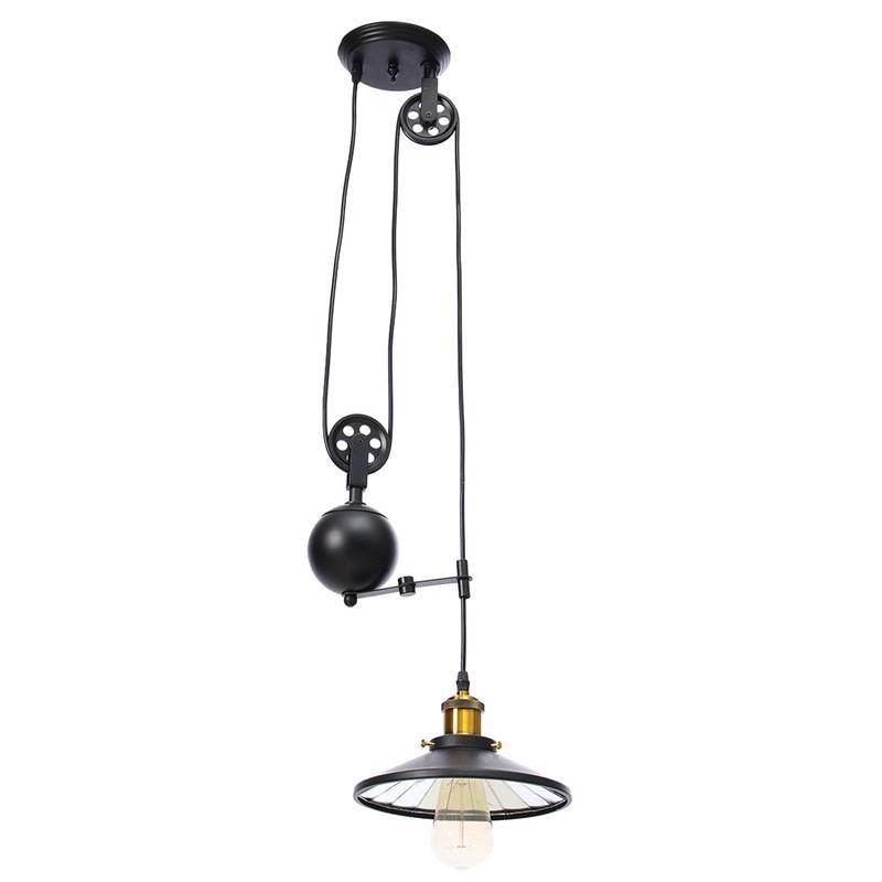 Pulley Adjustable Retractable Iron E27 Edison Retro Vintage Pendant Lights  Industrial Loft Pendant Lamp Cord Fixtures