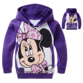 Girls Clothes Mickey Minnie Mouse Clothing Autumn Sports Hoodies Kids La reine des neiges Sweatshirt Costume For 2 4 6 8 10 Year