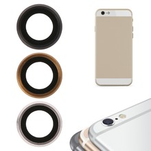 Rear Camera Lens Glass Cover With Metal Frame Holder For iPhone 6 Plus 5.5 Inch(China)