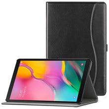 "AROITA kılıf Samsung Galaxy Tab için bir 10.1 ""Tablet 2019 serbest bırakma, model SM T510/T515 Premium PU deri standı kapak el kayışı ile"
