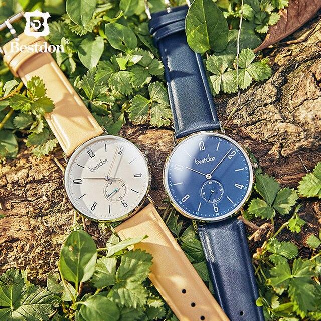 Bestdon montre hommes minimaliste étanche Quartz mouvement de luxe marque hommes montres décontracté classique montre-bracelet mâle nouveau 3