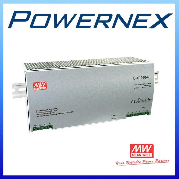 [PowerNex] MEAN WELL original DRT-960-24 24V 40A meanwell DRT-960 24V 960W Three Phase Industrial DIN RAIL Power Supply DRT-960 saimi skdh145 12 145a 1200v brand new original three phase controlled rectifier bridge module