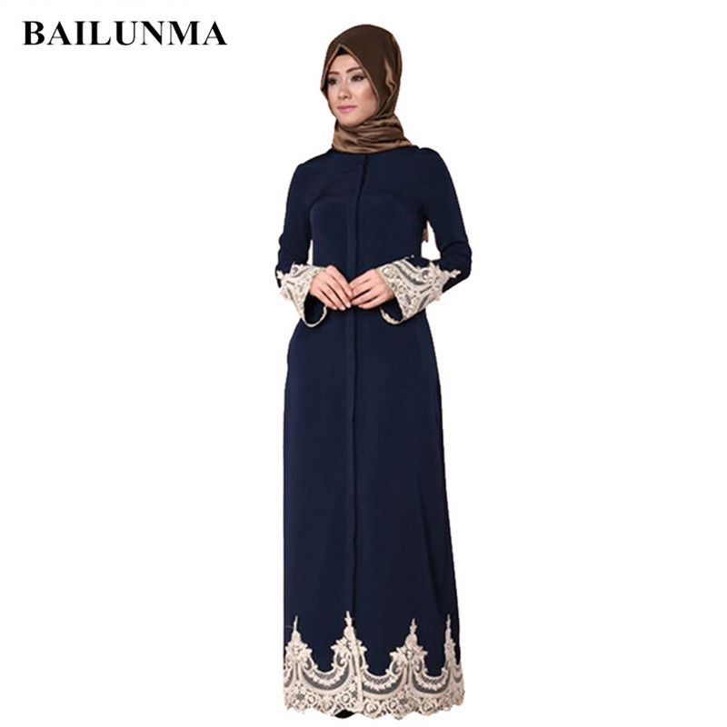 Front Open Button Abbaya Musulman Mode Musulmane Femme Arab Womens Clothing Arabic Dress Hijab Dress Abaya Floral Abaya K7906