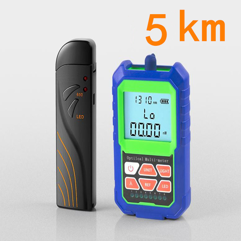 2 IN 1 High Accuracy Optical Power Meter with RJ45 Fiber Tester Self-Calibration with 6 Wavelengths 5KM Visual Fault Locator2 IN 1 High Accuracy Optical Power Meter with RJ45 Fiber Tester Self-Calibration with 6 Wavelengths 5KM Visual Fault Locator