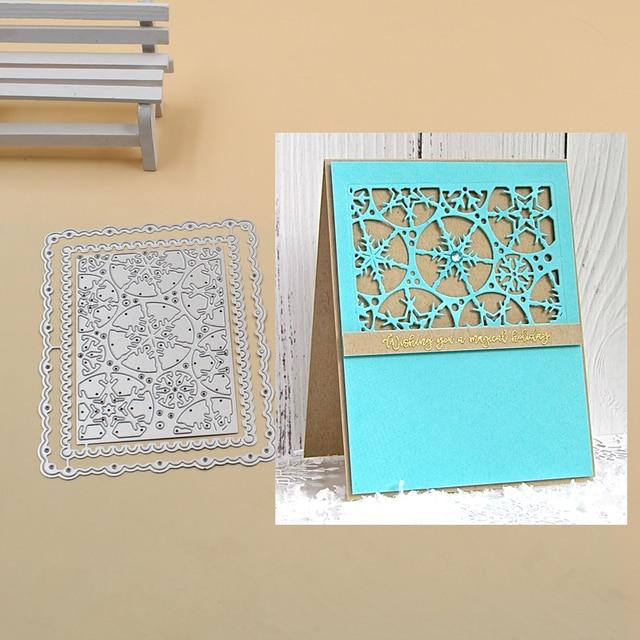 Snowflake frame set Metal Cutting Dies Stencils for DIY Scrapbook Photo Album PaperCard Decorative Craft Embossing Die 2018 NEW