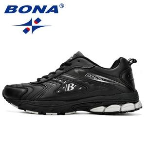 Image 5 - Bona Mannen Casual Schoenen Merk Mannen Schoenen Mannen Sneakers Flats Comfortabel Ademend Microfiber Outdoor Leisure Footwear Trendy Stijl