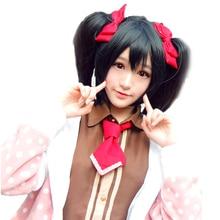 HSIU yüksek kaliteli LoveLive! Aşk canlı Cosplay peruk Nico Yazawa kostüm oynamak yetişkin peruk cadılar bayramı Anime saç ücretsiz kargo