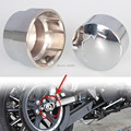Chrome Rear Axle Nut Covers For Harley Dyna Softail Models FXDB FLSTN 2008-2016 Free Shipping