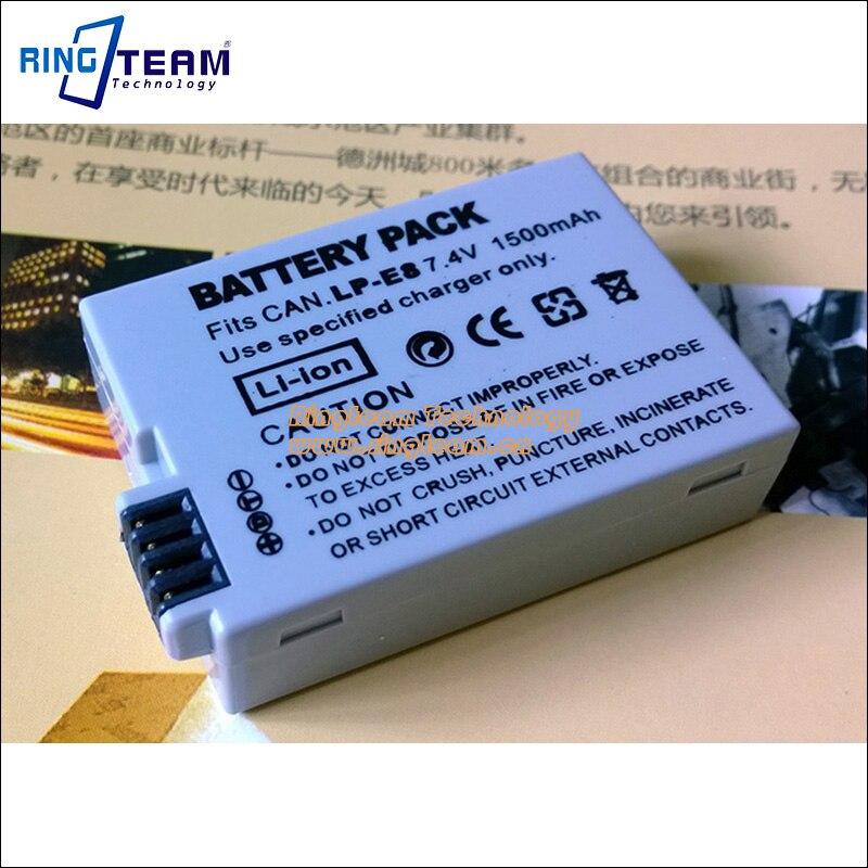 Trasporto Libero Ricaricabile Digitale Batteria LP-E8 LPE8 per Canon EOS Rebel T2i T3i T4i T5i EOS Kiss X4 X5 X6 550D 600D 650D 700D