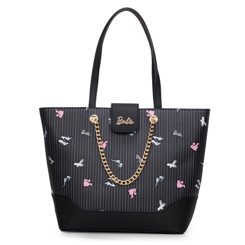 2018 Barbie Fashion Casual Shoulder Bags For Women PU Leather Tote Bag Large Capacity Hasp Single Shoulder Woman Bag Purse new brand pu leather handbags totes for women 2018 new fashion woman bags shoulder bag casual large capacity bucket bag