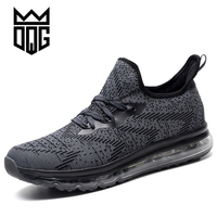 DQG Running Shoes For Men 2017 Sport Men S Breathable Gray Sneakers Outdoor Run Athletic Trainers