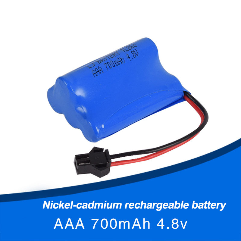 <font><b>4.8V</b></font> 700mAh AAA Ni Cd rechargeable battery vibration matched robot remote control electric toy image