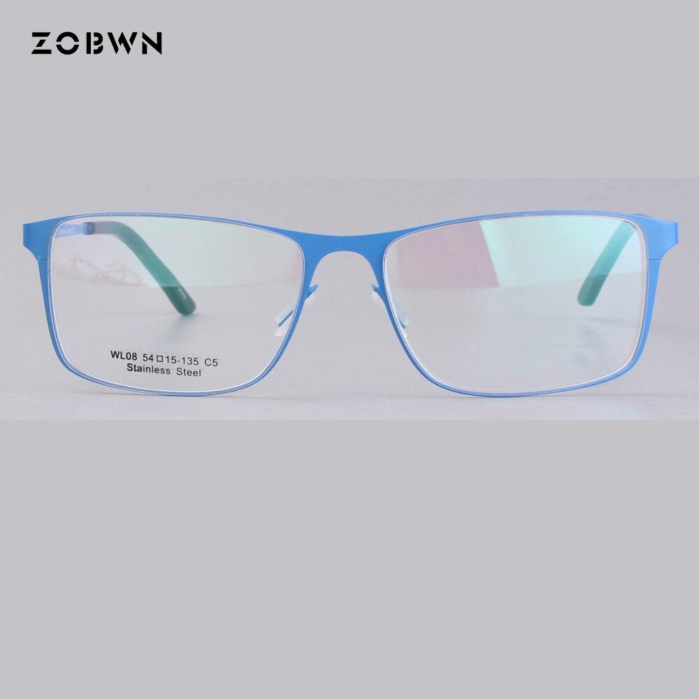 bbc26e66db ZOBWN Fashion Metal Glasses Frame Men Women Plain lens super thin light Spectacles  Vintage Female Eyeglasses Frames lunette de-in Eyewear Frames from ...