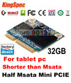 Shorter kingspec mini pcie msata sata iii 32 gb ssd unidad de disco duro hdd 3 cm x 2.35 cm de $ number canales para asus samsung tosiba sandisk