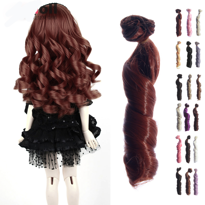 1PC Wig BJD Doll DIY High temperature Wire Handmade Curly Wigs Hair Curls Row