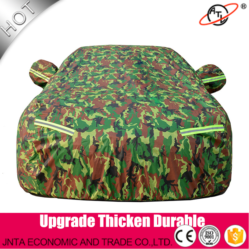 918D Oxford camouflage thicken and high density flocking car cover,four season car cover,water proof and resist dust hail proof  цены