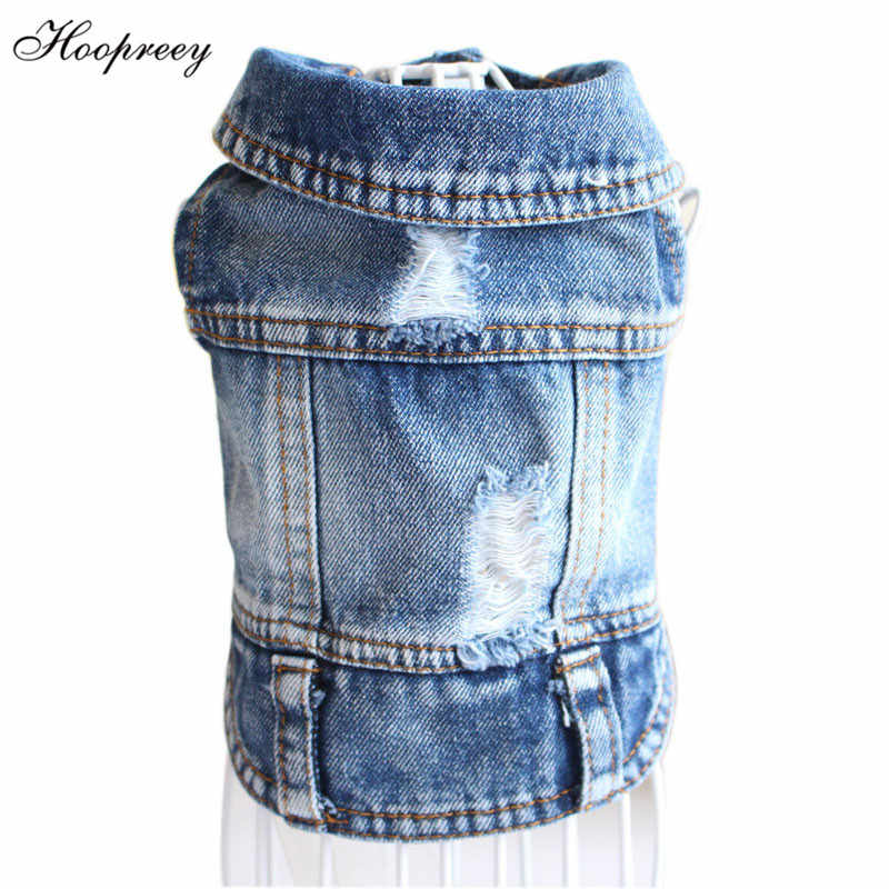 3269c74adab1 Detail Feedback Questions about Pet Clothes Dog Jeans Jacket Cool ...
