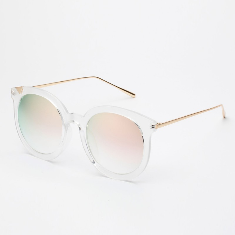 UV400 Protection Vintage Women Retro Fashion Steampunk Gold Eyewear Brand Design Round Sunglasses
