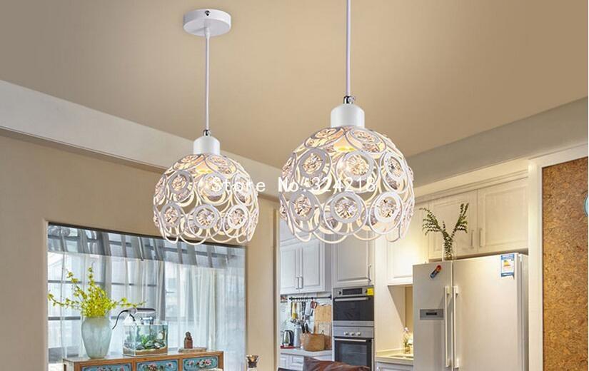 Lampade A Sospensione Design : W moderna di cristallo lampade a sospensione design bianco ferro