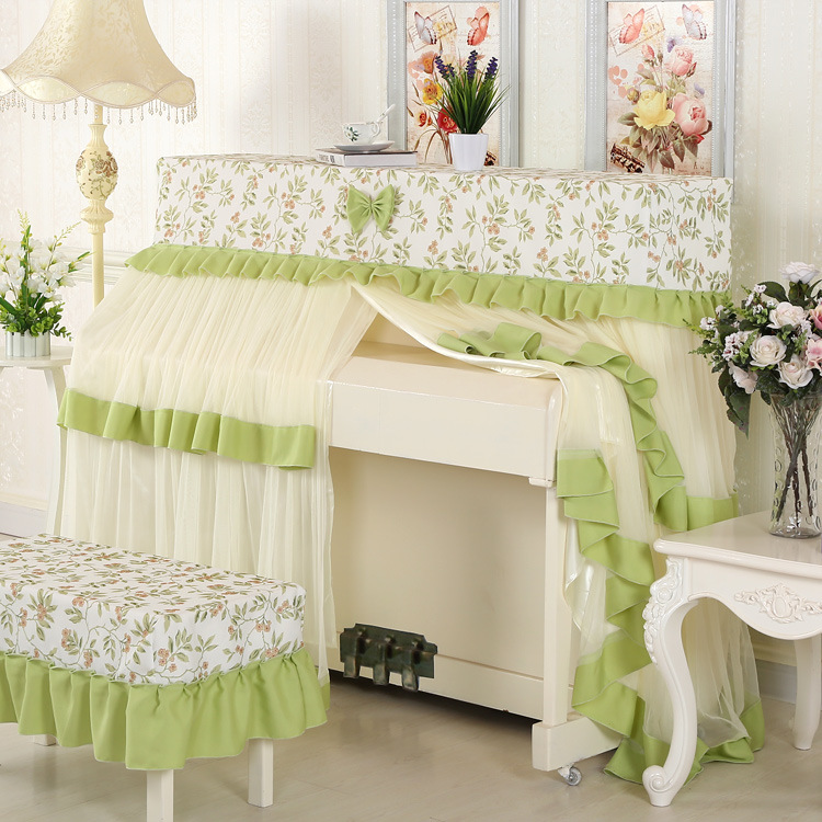 Dust Proof Piano Cover Piano Playing Country Fabric Piano Dust-proof Cover Vertical Piano Cover (9)