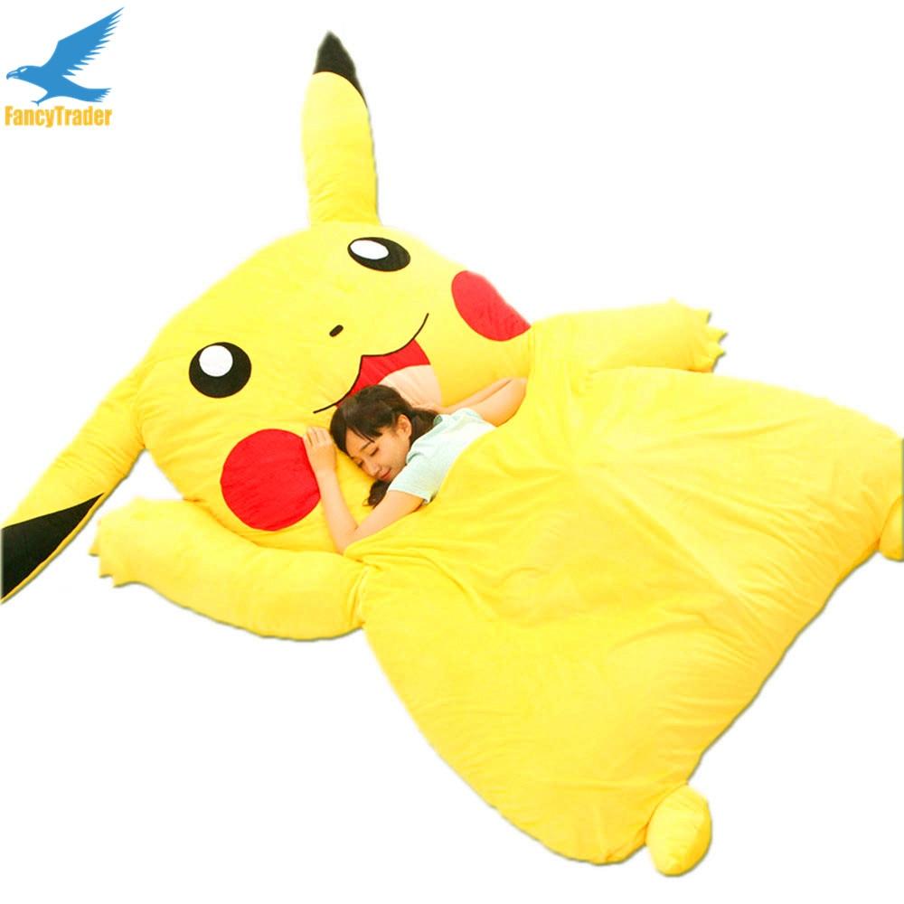 Buy fancytrader japan anime stuffed giant pikachu plush bed sofa mattress - Image pikachu ...