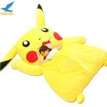 Fancytrader Japón Anime Pikachu de Peluche Gigante Rellenos Felpa Sofá Cama Colchón Tatami Cojín Juego de Cama de Espuma de Memoria Estera FT90267