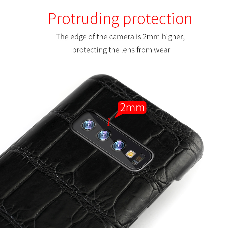 Image 3 - Luxury Natural Crocodile Leather case For Samsung Galaxy s10 S7 S9 S8 plus cover For Note 10 plus 8 9 a50 a70 A10 A30 a7 a8 2018-in Fitted Cases from Cellphones & Telecommunications