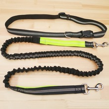 Adjustable Dog Leash Running Jogging Sport Product Elastic Waist  Nylon With Reflective Strip Pet Accessories