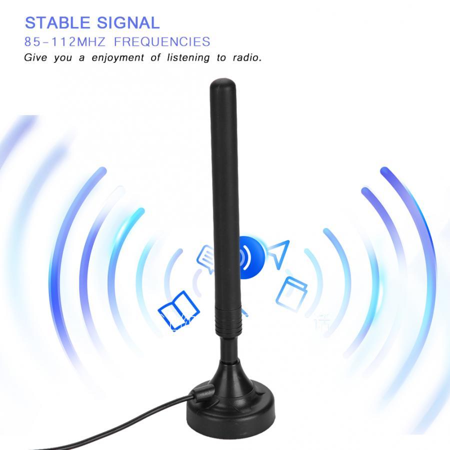 Бытовая FM-радиоантенна с высоким коэффициентом усиления, 25 дБ, 85-112 МГц, высокочувствительная USB-антенна FM для низкого уровня, с усилителем ра...