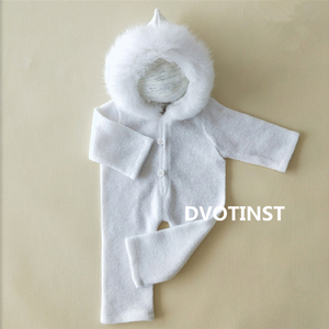 Image 2 - Dvotinst Newborn Photography Props Baby Lace Crochet Knit Outfits Set Clothes Fotografia Accessories Studio Shooting Photo Prop