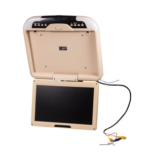 """Image 4 - 13"""" Car Monitor DC 12V 13 Inch Car Ceiling Monitors Roof Mounted Flip Down Monitor Beige Color"""