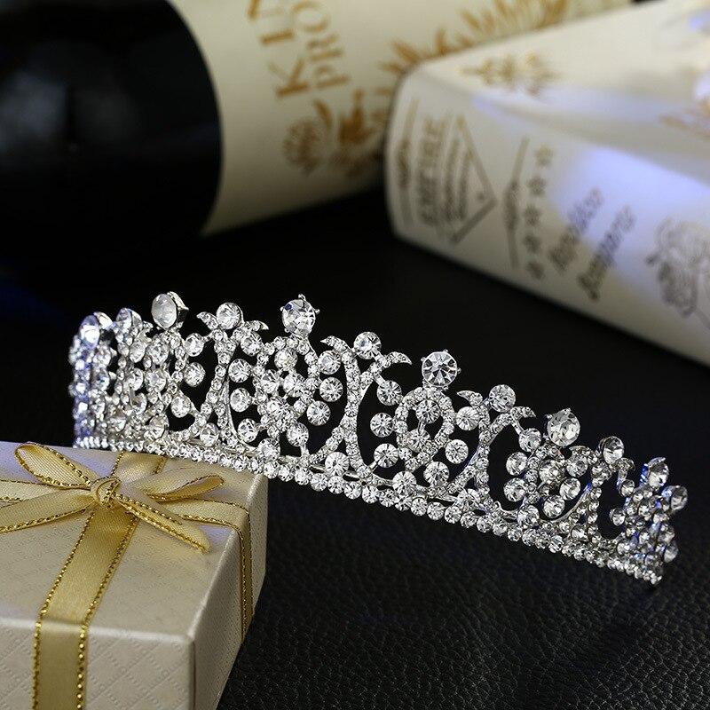 new bride wedding hair jewelry crystal tiara brida...